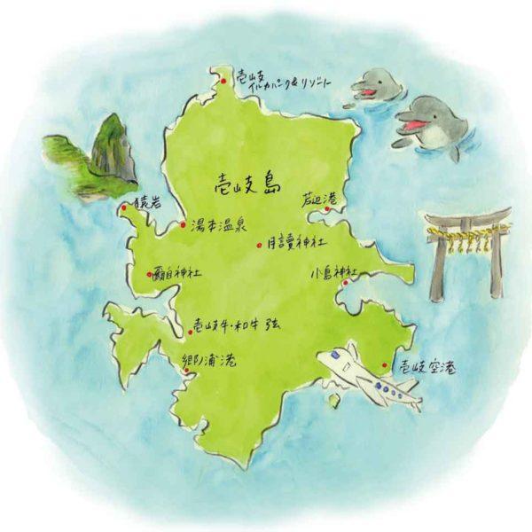 リンネル4月号 壱岐島MAPイラスト